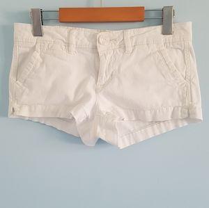 Aeropostale white chino twill shorts